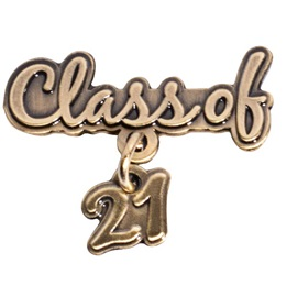 Gold Class of 2021 Dangler Pin