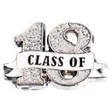 Class of 18 Ribbon Glitter Pin