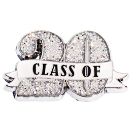 Class of 20 Ribbon Glitter Pin