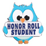 Award Pin - Honor Roll Owl