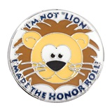 Award Pin - Honor Roll Lion