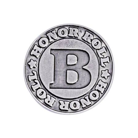 B Honor Roll Award Pin - Silver