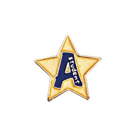 """A"" Student Mini Award Pin - Star"
