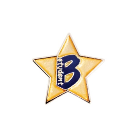 """B"" Student Mini Award Pin - Star"