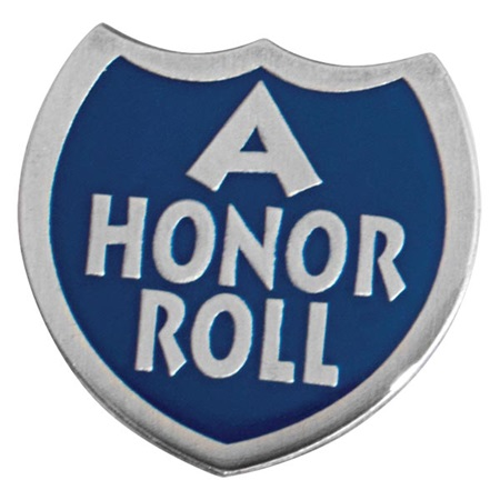 A Honor Roll Blue Shield Pin