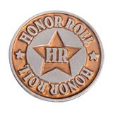 Brass Honor Roll Star Pin