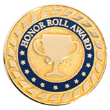 Blue and Gold Honor Roll Award Pin