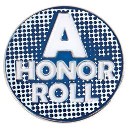 Blue A Honor Roll Pin
