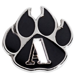 A Honor Roll Die Cut Paw Pin