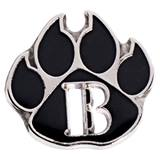 B Honor Roll Die Cut Paw Pin