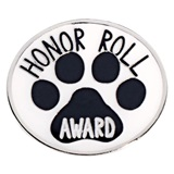 Honor Roll Award Paw Pin