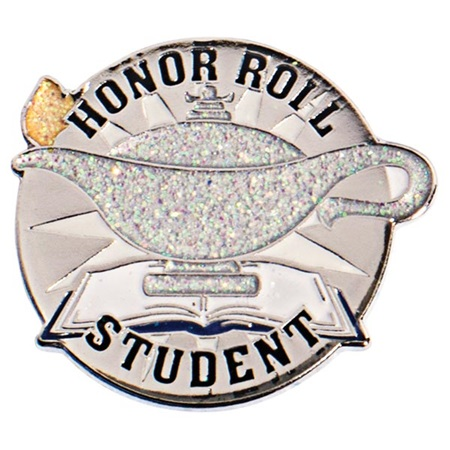 Glitter Lamp Honor Roll Student Pin