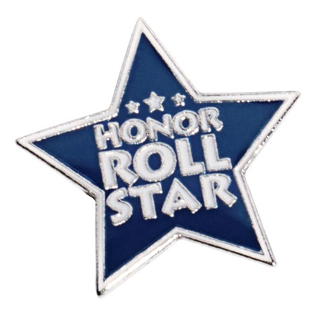 Blue Honor Roll Star Pin