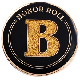 Honor Roll Award Pin - Glitter B Honor Roll