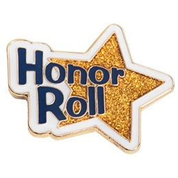 Honor Roll Award Pin - Gold Star