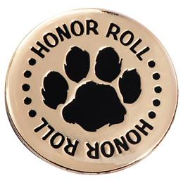 Honor Roll Award Pin - Large Paw Print