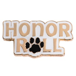 Honor Roll Award Pin - Small Paw Print