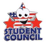Award Pin - Student Council Stars and Stripes