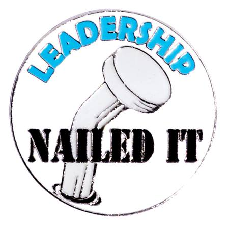 Award Pin - Nailed It Leadership