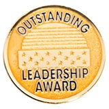 Gold Outstanding Leadership Award Pin