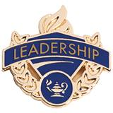 Leadership Award Pin - Blue/Gold
