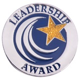 Leadership Award Pin - Gold Glitter Star