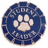 Leadership Award Pin - Gold Paw Student Leader