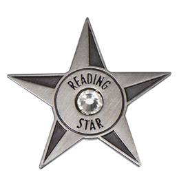 Reading Award Pin - Reading Star Bling