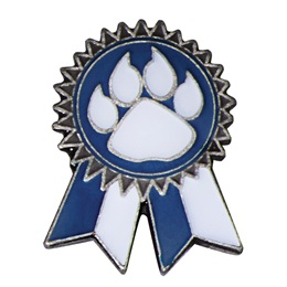 Blue Paw Sunflower Ribbon Pin