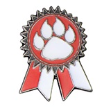 Red Paw Sunflower Ribbon Pin
