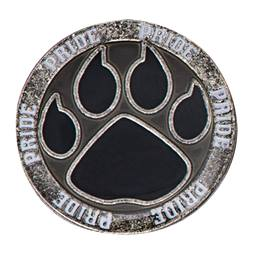 Black Paw Pride Pin