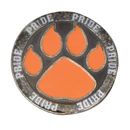 Orange Paw Pride Pin
