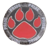 Red Paw Pride Pin