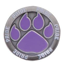 Purple Paw Pride Pin