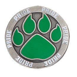 Green Paw Pride Pin