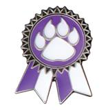 Purple Paw Sunflower Ribbon Pin