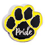 Paw Pride Award Pin - Black/Yellow