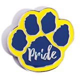 Paw Pride Award Pin - Blue/Yellow