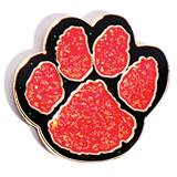 Paw Award Pin - Glitter Red/Black