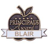 Personalized Apple Award Pin - Principal's Award