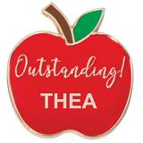 Personalized Apple Award Pin - Outstanding!