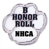 Personalized Paw Award Pin - B Honor Roll