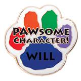 Personalized Paw Award Pin - Pawsome Character