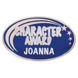 Personalized Oval Award Pin - Character Award