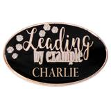 Personalized Oval Award Pin - Leading By Example