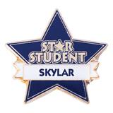 Personalized Star Award Pin - Star Student
