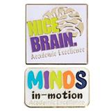 Award Pin Set - Minds in Motion/Nice Brain Academic Excellence
