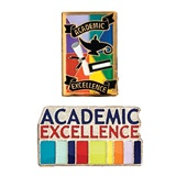 Award Pin Set -Academic Excellence Paints/Rainbow
