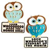 Award Pin Set - Honor Roll Owl/Student of the Month Owl