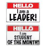 Award Pin Set - Hello! Student of the Month/Leader